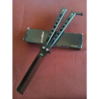 Pomade Benchmade Combi Knife Balisong Tumpul Sisir Butterfly