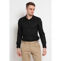 The Executive Slim Fit Long Sleeve Shirt 1-LSIKCO220B296 Black