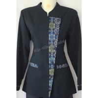 Batik Blazer Setelan Dongker Biru Kerja Wanita Warna Kombinasi Kantor