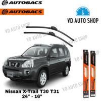 Wiper Mobil Nissan X-Trail T30 T31 24 & 16 Frameless 1 SET Autobacs