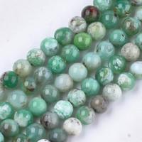 Nbeads 2 Strand Natural Australia Jade Chrysoprase Beads Strands SP12