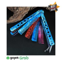 VIPKNIFE Sisir Besi Butterfly Balisong Training Knife CS GO - Y - DUOL