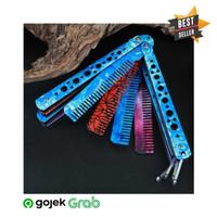 VIPKNIFE Sisir Besi Butterfly Balisong Training Knife CS GO - Y - DUCO