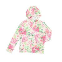 Justice Girls Floral Zip Hoodie Cream - Jaket Anak Perempuan