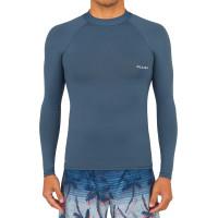 OLAIAN Men's surfing long-sleeved top T-shirt 100 - grey - 8611954