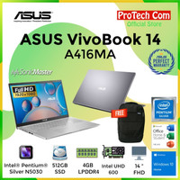 ASUS VIVOBOOK A416MA PENTIUM N5030 4GB 512GB INTEL HD 14 FHD OHS W10