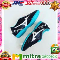Sepatu Futsal Mizuno Monarcida FS IN (Wide) Black/Blue Atoll ASLI