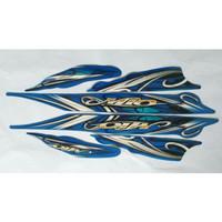 stiker striping motor yamaha mio sporty 2010 biru reltyu 6917tm
