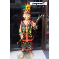Daerah Dayak Wanita SDkls 1-3 Baju Adat Karnaval Kostum Tari Anak