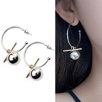 Hollow Large Ring Earrings 02C5ACr