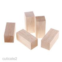 3 / 5Pcs Balok Kayu Balsa Natural untuk Craft DIY