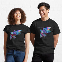 Kaos In Love With You The Blue Rainbow Bird 740 Unisex T-Shirt