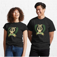 Kaos Musical Lyre with Victory Laurel Wreath 815 Unisex T-Shirt