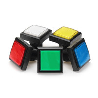 44x44mm Blue Red White Yellow Green LED Light Push Button for Arcad e5