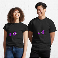 Kaos Pac Man Ghost Meets Thanos Crossover 693 Unisex T-Shirt