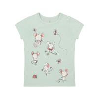 Mothercare green little mouse t-shirt - Kaos Bayi Perempuan (Hijau)