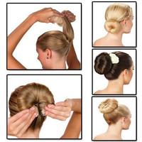 Hot Bun Cepol Korea Hair Styling Aksesoris Ikat Rambut Konde Sanggul
