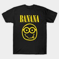 Baju kaos distro Premium Nirvana Banana - Minions