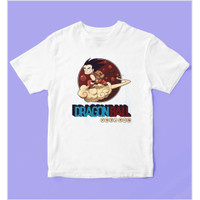 Baju Kaos Anak Kaos Anak Dragon Ball Nintendo - Untuk Usia 1-12 Tahun - Putih, S