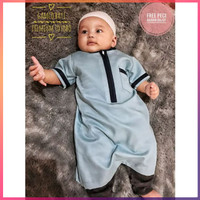 Baju koko gamis bayi laki-laki newbornjubah bayifree peci