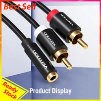 Vention Female 3.5mm Jack to 2RCA Male Audio Cable RCA Jack Splitte 4a
