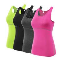 Tank Top Wanita Model Rompi Ketat Untuk Olahraga Gym Yoga Fitness