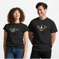 Kaos Dad to Air Basketball and gadget in a Gold patte 184 T-Shirt