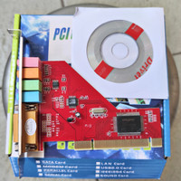 PCI WITH DRIVER CD CARD SOUND