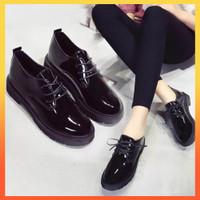 SEPATU WANITA MODEL BOOTS BEST SELLER DOCMART BLACK GLOSY PREMIUM