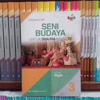 Buku Seni Budaya Kelas 3 / XII 12 SMA K13N Erlangga Original