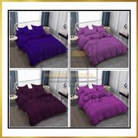 Bedcover Premium Polos Tinggi 30 cm Vallery Quincy warna ungu variasi