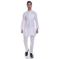 Putih Koko Muslim Impor Premium Baju India Kurta Kurta Hijrah celana K