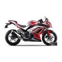 Decal Sticker Modifikasi Kawasaki Ninja 250 Fi Merah - IQ DEKAL