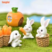 FF Mini Rabbit Easter Decor Hare Animal Figurine Resin Craft Bun SP12