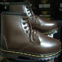 BARU Diskon sepatu docmart anak dark brown 5&6hole size 31-35 kk