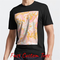 T-Shirt Aesthetic pink marble with faux gold glitter Tumbl Kaos Distro