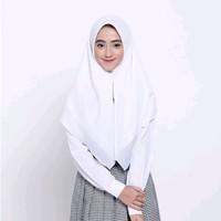 Kerudung Sekolah Zoya Kerudung Putih Jilbab Hijab Instan Berkualitas