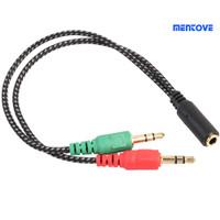 entove 3.5mm 2 Male Plug to 1 Female Jack Audio Mic Headset Splitte v2