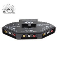 new goods 3Way Audio Video AV RCA Black Switch Selector Box Splitte i3