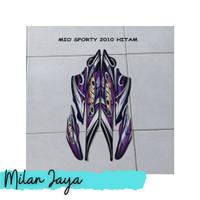 Sticker Striping Motor Yamaha Mio Sporty 2010 Hitam