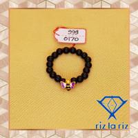 Cincin Batu Hitam Charm Lebah Cat Ungu Emas Hongkong CH999017000