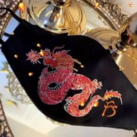 Fashion mask masker kain bordir naga dragon unisex ready