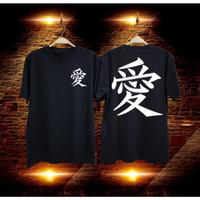 Kaos distro baju distro pria t-shirt combed30s TULISAN CHINA C 48