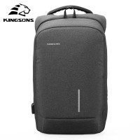 Tas Ransel Backpack Anti Maling Laptop 15 Inch with USB Port Kingsons