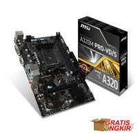 MSI A320M PRO-VD S AMD A320 AM4 DDR4 Micro ATX Motherboard