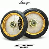 WheelSet Supermoto Emas CRF 150 Ban Velg Expedition GOLD CRF150