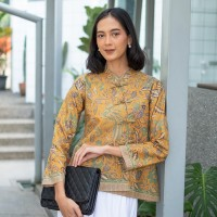 NONA RARA - Vivi 3N T0991,Baju atasan kerja blouse batik wanita modern
