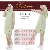 Baju ASLI bms 18 olahraga setelan TERLARIS senam ORI believe baju baju