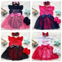 Baju setelan jumper rok bunga bandana sepatu pergi lucu bayi perempuan