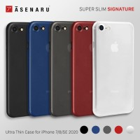 Asenaru iPhone 7/8/SE 2020 Case Super Slim Signature Casing